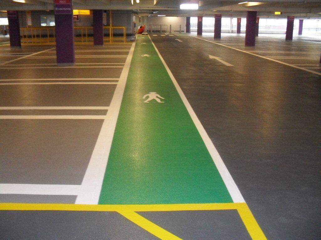 Car Park Line Marking Hygienic Flooring Systems Contractors